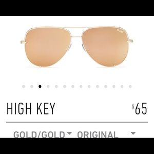 Quay Gold High Key Sunglasses